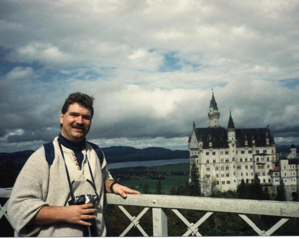 Steve at Neuschwanstein Castle Germany