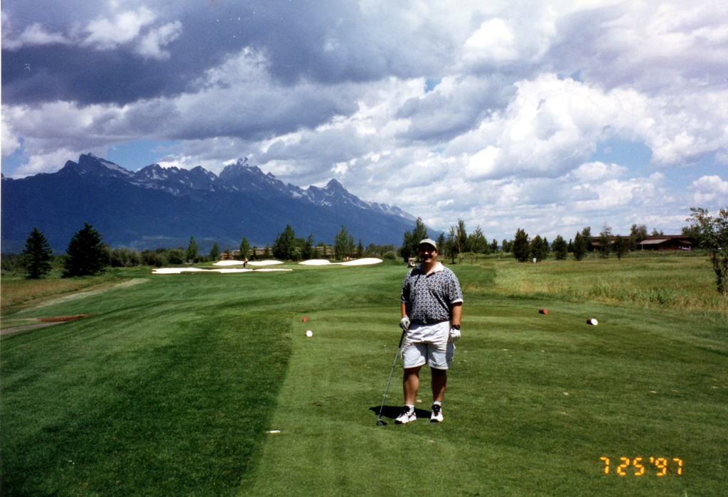 Playing golf at Jackson Hole WY
